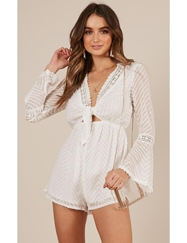 If You Know Playsuit In White by Showpo Fashion