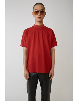 Logo Crewneck Red by Acne Studios
