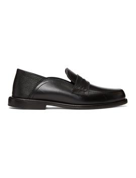 Black Slip On Loafers by Loewe