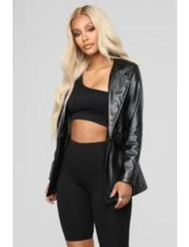 Grease Me Up Jacket   Black by Fashion Nova