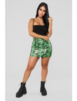 Pick Your Poison Mini Skirt   Lime by Fashion Nova