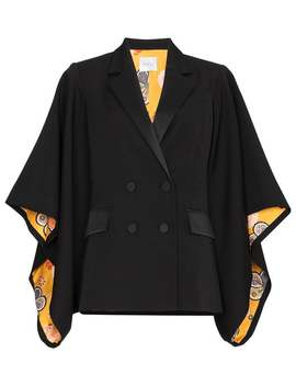 Racil Kyoto Contrast Lining Virgin Wool Kimono Jacket by Racil