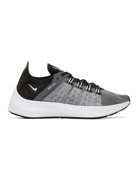 Black & Grey Exp X14 Sneakers by Nike