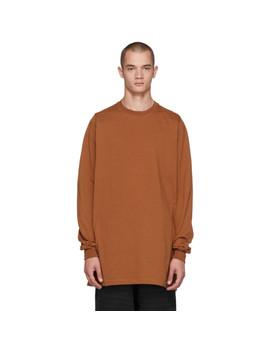 Brown Crewneck Sweatshirt by Rick Owens