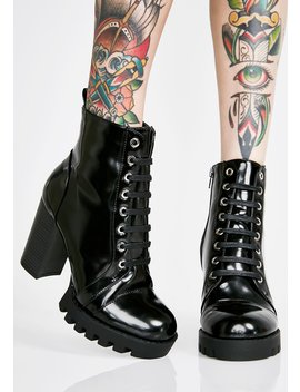 Stomp It Out Lace Up Booties by Legend Footwear