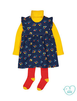 Little Bird Dress, Roll Neck And Tights Set by Mothercare