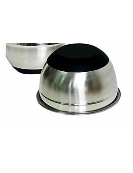 Supreme Set Of 3 Stainless Steel Mixing Bowls With Lid And Non Slip Rubber Bottoms (Black) by Kitchen