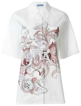 Pradashort Sleeve Shirthome Women Prada Clothing Shirts by Prada