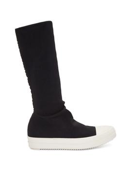 Black Sock High Top Sneakers by Rick Owens Drkshdw