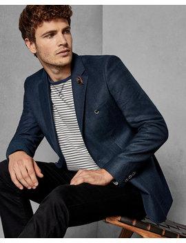 Slim Semi Plain Wool Suit Jacket by Ted Baker