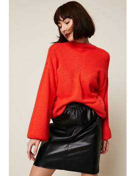 Mid Length Skirt   Black by Monshowroom
