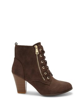 Block Heel Lace Up Ankle Boots by Forever 21