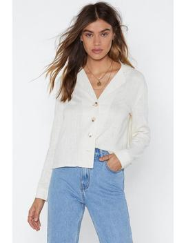 Shirt Feelings Linen Shirt by Nasty Gal