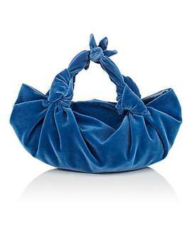 The Ascot Small Velvet Bag by The Row