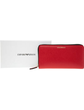 Red Zip Around Purse by Emporio Armani