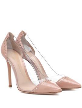 Macy 105 Plexi And Leather Pumps by Gianvito Rossi