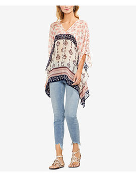 Printed Asymmetrical Poncho Top by Vince Camuto