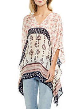 Tile Wildflower Poncho by Vince Camuto