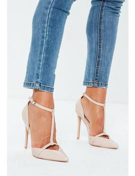 Nude T Bar Pumps by Missguided