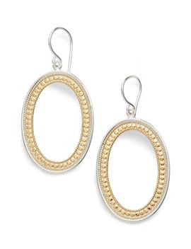 Large Open Oval Drop Earrings by Anna Beck
