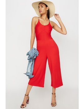Scoop Neck Culotte Jumpsuit by Urban Planet