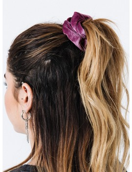 Purple Velvet Scrunchie by Princess Polly