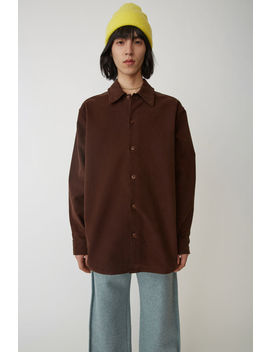 Minimal Military Shirt Dark Brown by Acne Studios
