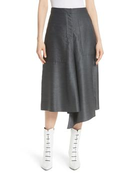 asymmetrical-drape-skirt by tibi