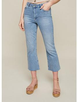Mid Wash Cropped Flare Jeans by Miss Selfridge