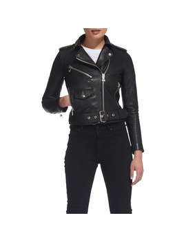 Whistles Agnes Biker Jacket, Black by Whistles