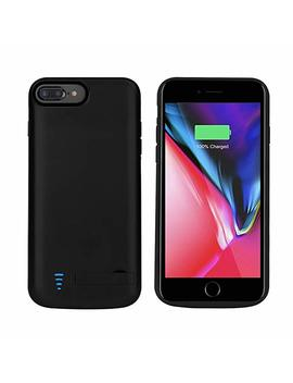 Runsy I Phone 8 Plus / 7 Plus / 6 S Plus / 6 Plus Battery Case, 8000m Ah Rechargeable Extended Battery Charging Case, External Battery Charger Case, Backup Power Bank Case, Support Lightning Wired Headphones (New 5.5 Inch) by Amazon
