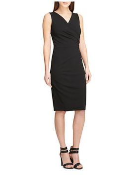 Pleated Sleeveless Sheath Dress by Dkny