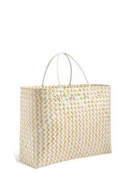 Handwoven Oversized Bamboo Bag by Marks & Spencer