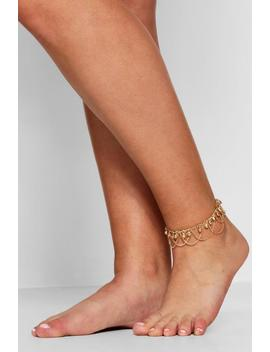 Plus Ball Chain Anklet by Boohoo