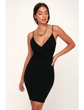 Light My Fire Black Bodycon Dress by Lulu's