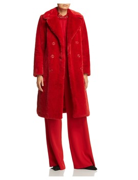Montana Faux Fur Long Peacoat by Alice And Olivia