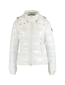 White Glossy Padded Jacket by Save The Duck
