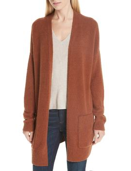 Long Organic Cotton Blend Cardigan by Eileen Fisher