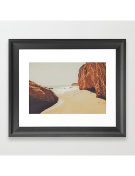 Beach Day   Ocean, Coast   Landscape Nature Photography Framed Art Print by
