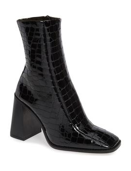 Hurricane Croc Embossed Bootie by Topshop