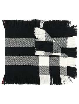 Burberry Fringed Check Wool Scarfhome Women Burberry Accessories Scarves by Burberry