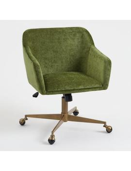 Warm Green Mid Century Zarek Office Chair by World Market