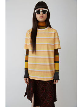 Pastel Striped T Shirt Peach/Multi by Acne Studios