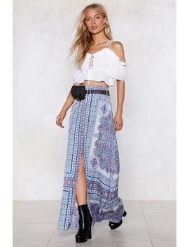 The Flow Down Printed Skirt by Nasty Gal