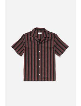 Canty Frequency Button Down Shirt Light Plum           Gotham Black Chest T Shirt   Cobalt              Ritchie Bar Overlap Short   Cobalt              Crosby Flannel Button Down Shirt   Black by Saturdays Nyc