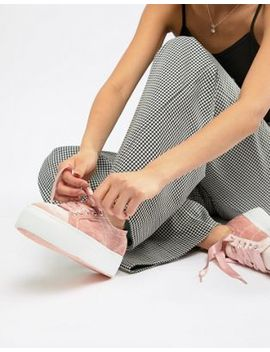 Superga – Sneaker Aus Velours Mit Plateausohle In Rosa by Superga
