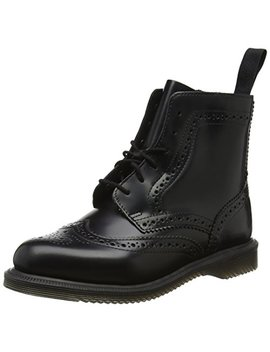 Dr. Martens Damen Delphine Black Polished Smooth Stiefel, Schwarz by