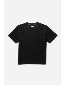 Elliot Velour Short Sleeve Shirt Black           Trent Monstera Swim Short   Monstera Print              Stencil Grid T Shirt   White              Poppy S T Shirt   Black              Jake Velour Short Sleeve Polo   British Khaki by Saturdays Nyc
