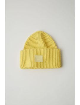 Lambswool Beanie Pale Yellow by Acne Studios