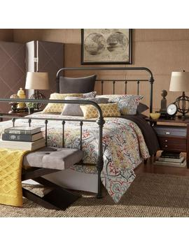 Calabria Grey King Bed Frame by Home Sullivan